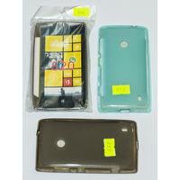 456, 457, 492, 493 Чехол для Nokia Lumia 520 силиконовый