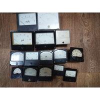 Амперметры, миллиамперметры, вольтметры.Измерительные головки разные (на фото не все) цена от 4 до 20 руб за штуку
