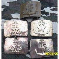 Пряжки ВМФ СССР. Довоенные, военные и помладше. Как есть.
