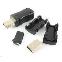 Разъем (штекер) mini USB (10 контактов), разборный