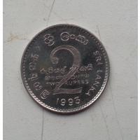 2 рупии 1993 г. Шри Ланка