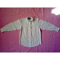 Блуза белая школьная длинный рукав