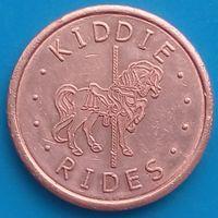 Токен в парк развлечений KIDDIE RIDES Technotron Dedem ( ИТАЛИЯ )