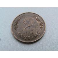 2 сантима 1939 Латвия
