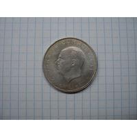 """Турция 10 лир 1960 """"Революция 27 мая 1960 года"""" UNC, серебро"""