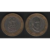 Ямайка km182 20 долларов 2000 год (f50)(ks00)