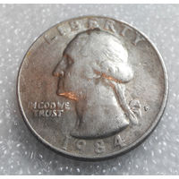 25 центов 1984 (P) США #01