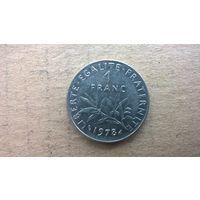Франция 1 франк, 1978г. (D-2)