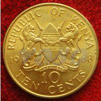 7900:  10 центов 1968 Кения