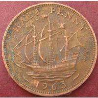 5799:  1/2 пенни 1963 Британия