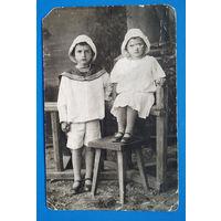 Фото детей. До 1917? 9х14 см.