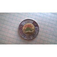 Канада 2 доллара 2019 г. 75 лет высадке союзников в Нормандии ( монета из рола .цветная)