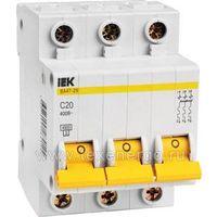 Автомат - автоматический выключатель IEK BA47-29 3P C20 (20 Ампер, 3 полюса)