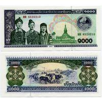 Лаос. 1000 кип (образца 2003 года, P32Ab, UNC)