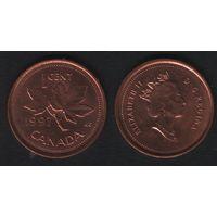 Канада _km289 1 цент 1997 год (f31)**