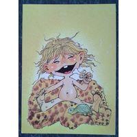 Валтер Э. Поздравительная открытка. Дети. Эстония. 1987 г. Чистая