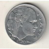 Италия 20 чентезимо 1942 магнитная