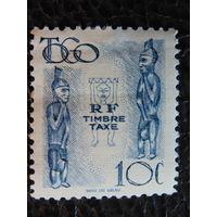 Колония Франции Того 1947г.  Доплатная марка.