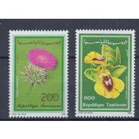 [1487] Тунис 1990. Флора.Цветы.Орхидеи.