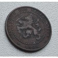 Нидерланды 1 цент, 1906 8-9-18