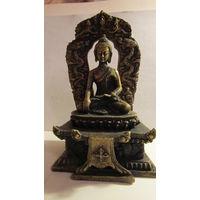 Статуэтка Будда. Бронза или латунь. Металл.