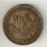Камерун 1 франк 1924