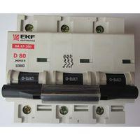 Выключатель автоматический EKF ВА47-100 3P 80А (D) 10kA