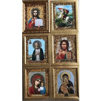Икона Софрино - инкрустация янтарем цена за 1 штуку