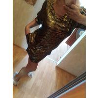 Платье р. Л золотое Zara