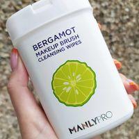 Экспресс-очищающие салфетки для кистей ManlyPRO  с маслом бергамота (50 шт)