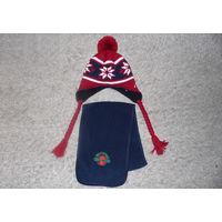 Комплект: шапка и шарф, размер 54