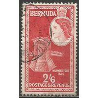 Бермуды. Королева Елизавета II. Форт Варвик. 1953г. Mi#144.