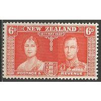 Новая Зеландия. Король Георг VI и королева Елизавета. 1937г. Mi#234.
