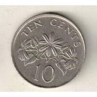Сингапур 10 цент 1991