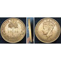 W: Британская Западная Африка 2 шиллинга 1938 (900)