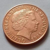 2 пенса, Джерси 1998 г., AU