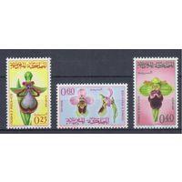 [1318] Марокко 1965. Флора.Цветы.Орхидеи.