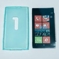 496 Чехол для Nokia Lumia 920 силиконовый голубой
