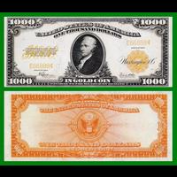 [КОПИЯ] США 1000 долларов 1922г. Золотой Сертификат.