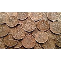 20 монет Бельгии 50-х годов 20 века - одним лотом