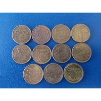 Сборный лот Польша 5 грош 11шт погодовка