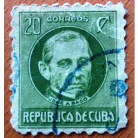 Куба, 1925 г. Политики. 1 марка. Гаш.