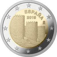 2 евро Испания 2019 Всемирное наследие ЮНЕСКО. Старинный город Авила UNC из ролла