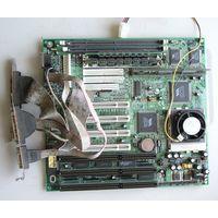 Плата материнская 5VPX2 Socket 7 +  процессор Intel Pentium 133 + ОЗУ