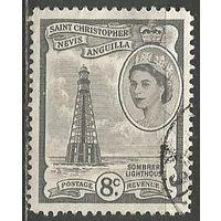 Сент-Кристофор Невис и Ангилья. Королева Елизавета II. Маяк. 1954г. Mi#120.