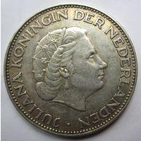 Нидерланды. 2 1\2 гульдена 1959 Серебро. 258