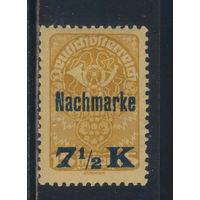 Австрия Немецкая Респ Доплатные 1921 Номинал Надп #102**