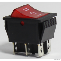 Переключатель, клавиша 3 положения XW-604AA3 6pin ON-OFF-ON 250V/15A IRS-203