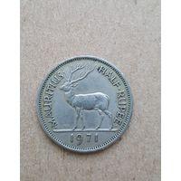 Маврикий 1/2 рупии 1971 (Mauritius half rupee 1971)