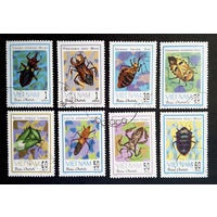 Вьетнам 1982 г. Жуки. Фауна. Насекомые. полная серия из 8 марок #0225-Ф1P51